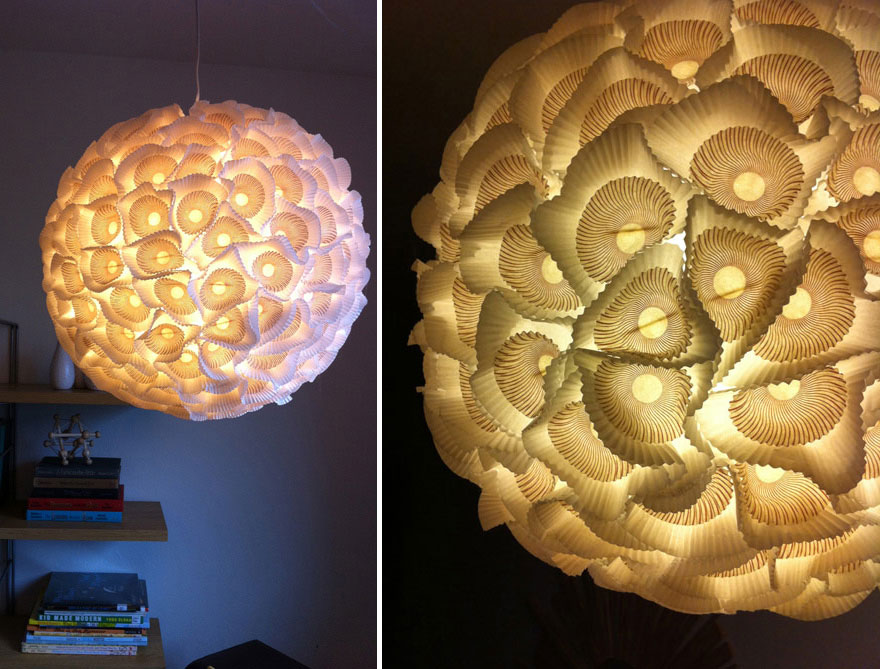 15 lámparas increíbles hechas con cosas que tirarías a la basura ...
