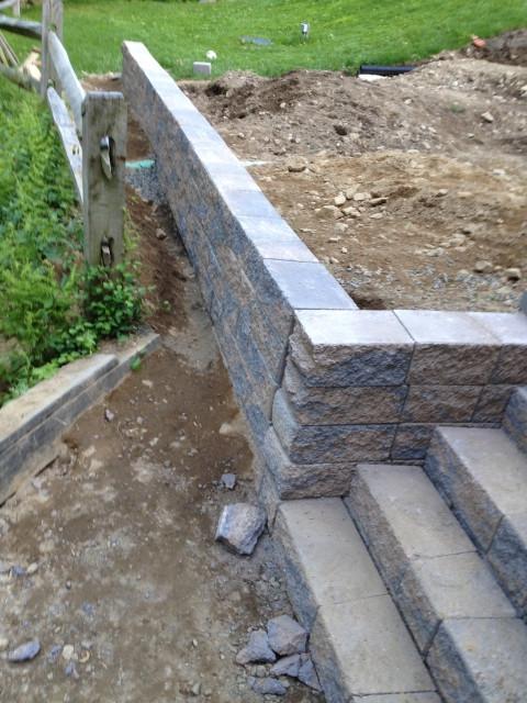 el muro sirve de barrera para evitar que la tierra se desplaze y de esta forma facilita la tarea de alisamiento del suelo que ms tarde su cubrir con