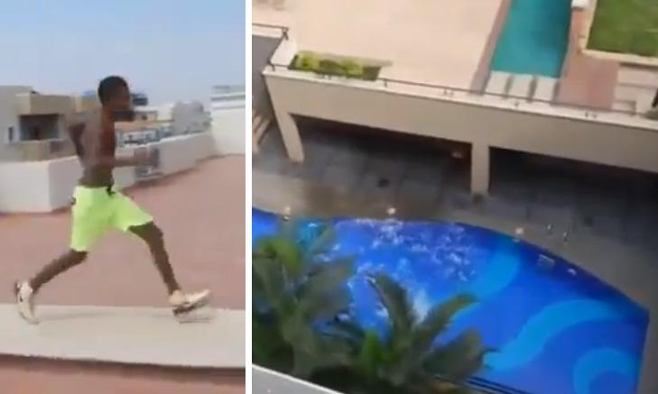 salta-piscina