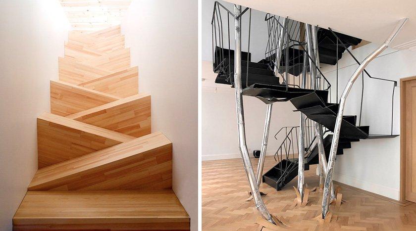 22 escaleras originales por las que te gustar subir - Como subir muebles por escalera caracol ...