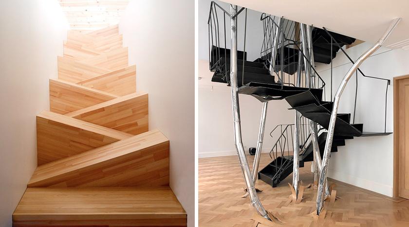 22 escaleras originales por las que te gustar subir for Huecos de escaleras modernos