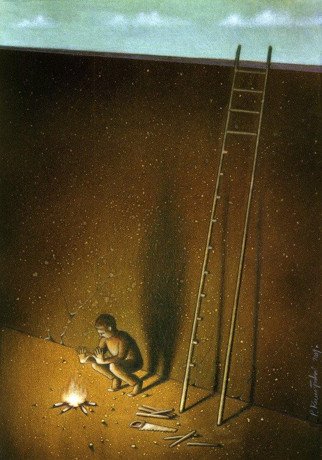 37 dibujos de crítica social de uno de los mejores artistas de pintura satírica Pawel-Kuczynski-1