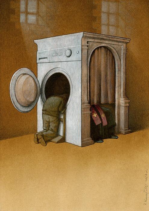 37 dibujos de crítica social de uno de los mejores artistas de pintura satírica Pawel-Kuczynski-11