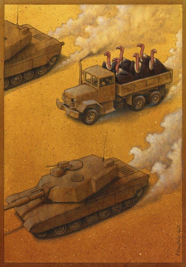 37 dibujos de crítica social de uno de los mejores artistas de pintura satírica Pawel-Kuczynski-17
