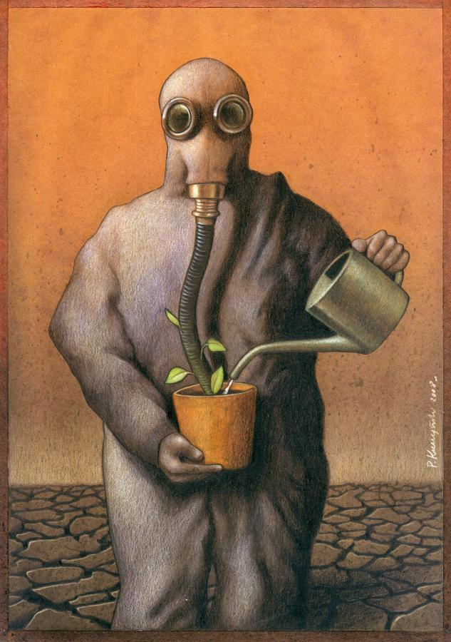 37 dibujos de crítica social de uno de los mejores artistas de pintura satírica Pawel-Kuczynski-18