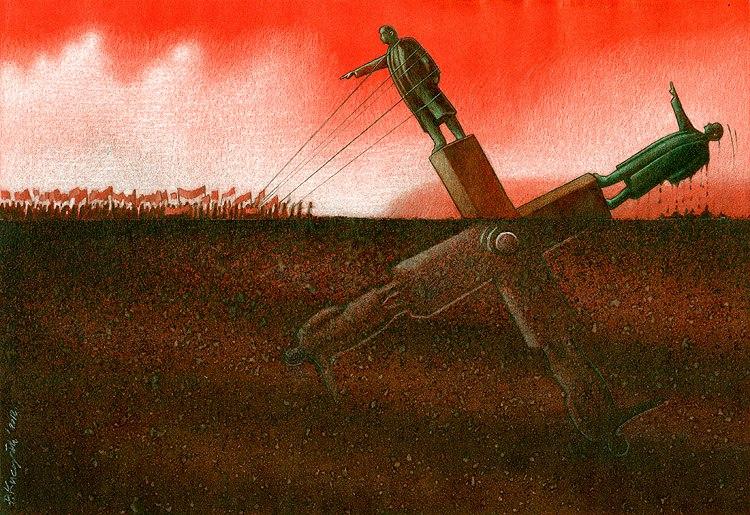 37 dibujos de crítica social de uno de los mejores artistas de pintura satírica Pawel-Kuczynski-2