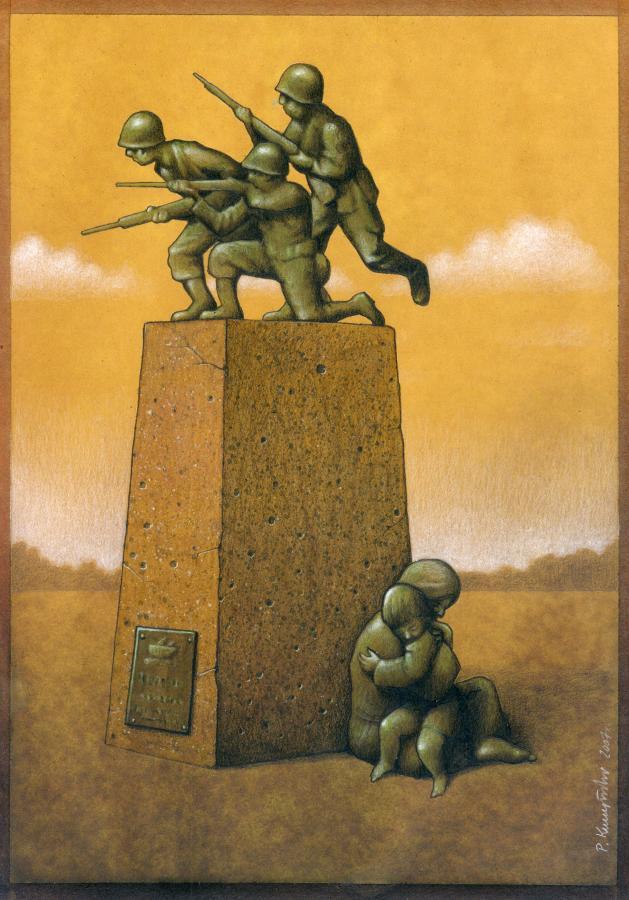 37 dibujos de crítica social de uno de los mejores artistas de pintura satírica Pawel-Kuczynski-26