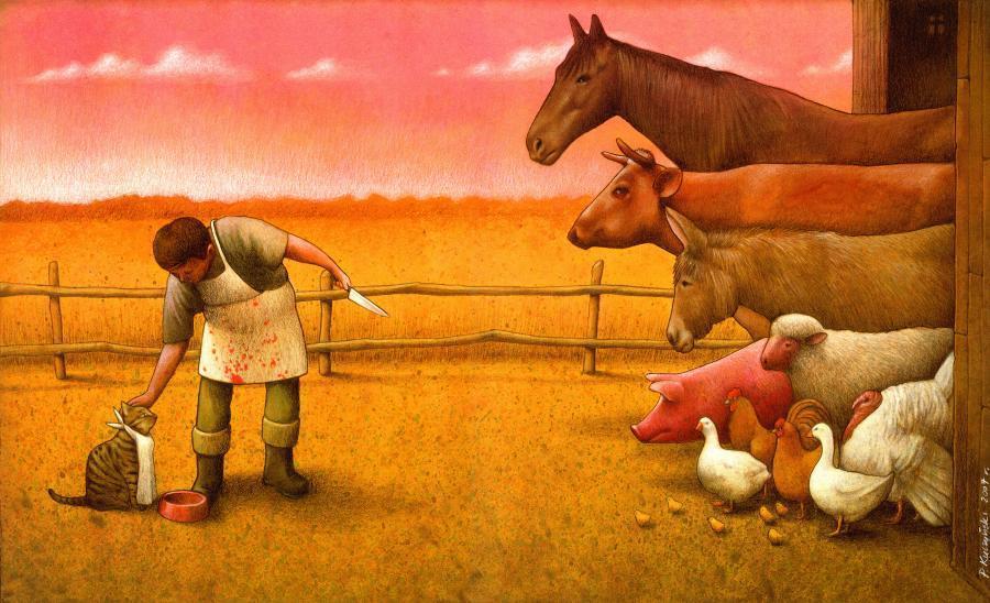 37 dibujos de crítica social de uno de los mejores artistas de pintura satírica Pawel-Kuczynski-28