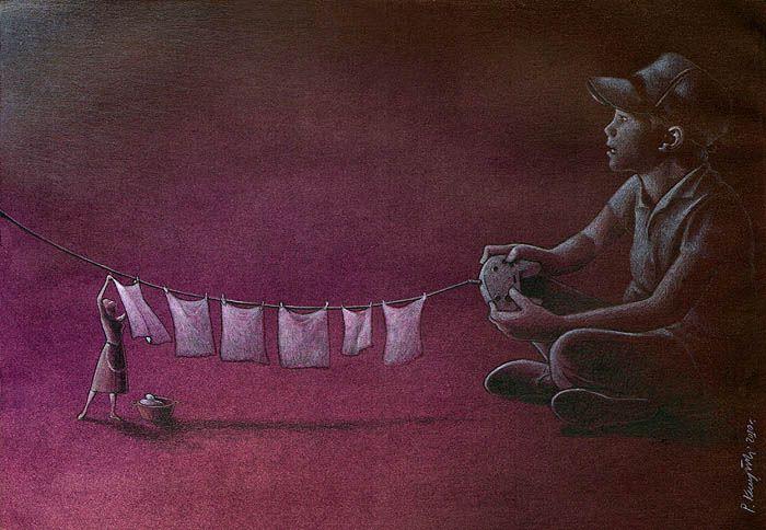 37 dibujos de crítica social de uno de los mejores artistas de pintura satírica Pawel-Kuczynski-3