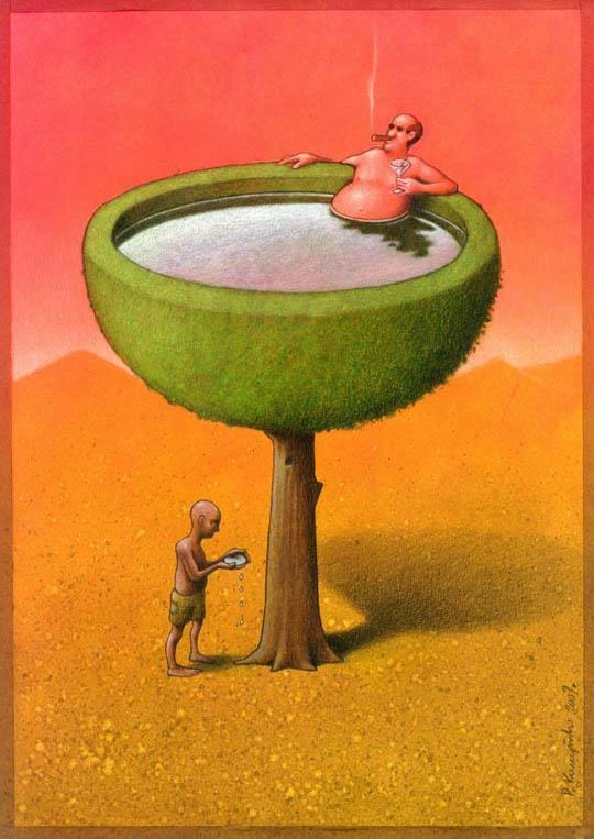 37 dibujos de crítica social de uno de los mejores artistas de pintura satírica Pawel-Kuczynski-30