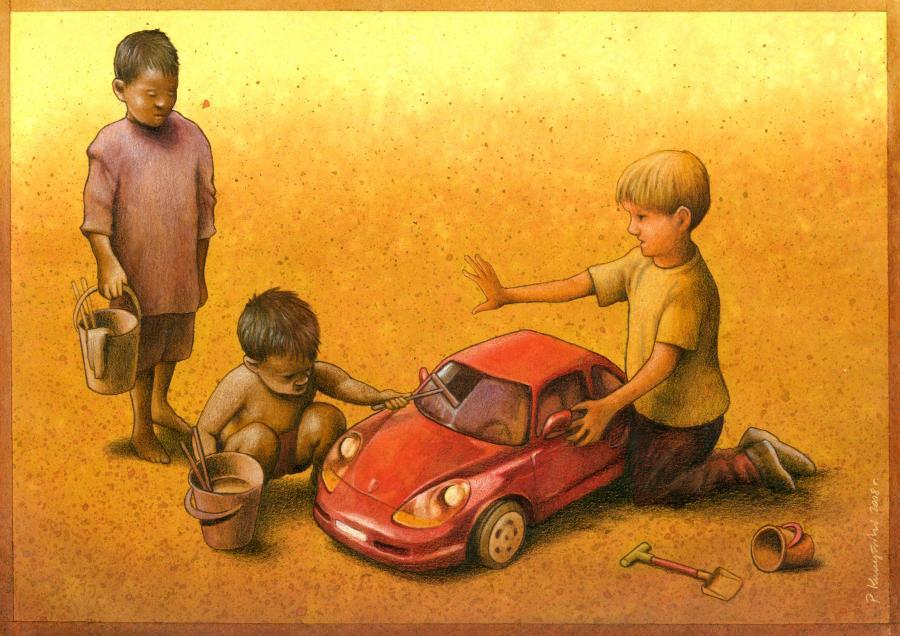 37 dibujos de crítica social de uno de los mejores artistas de pintura satírica Pawel-Kuczynski-37