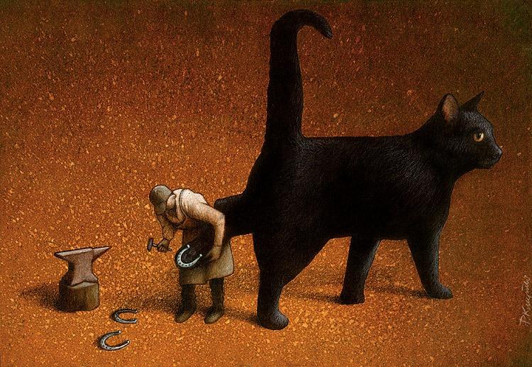 37 dibujos de crítica social de uno de los mejores artistas de pintura satírica Pawel-Kuczynski-6