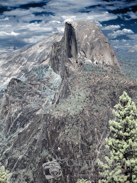 Half Dome in Color Infrared - Yosemite National Park