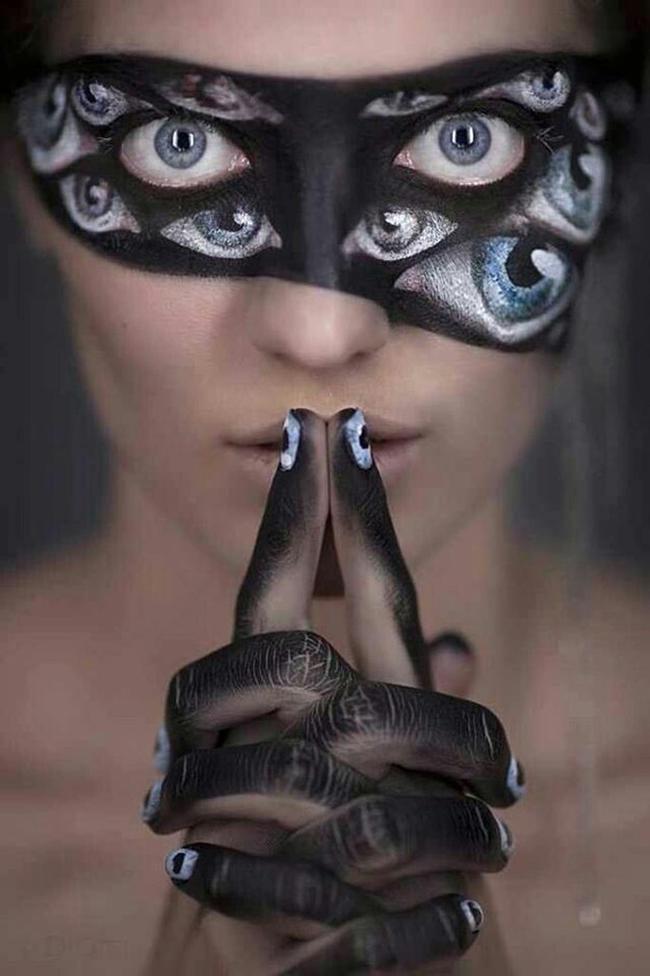 espectaculares maquillajes haloween 10