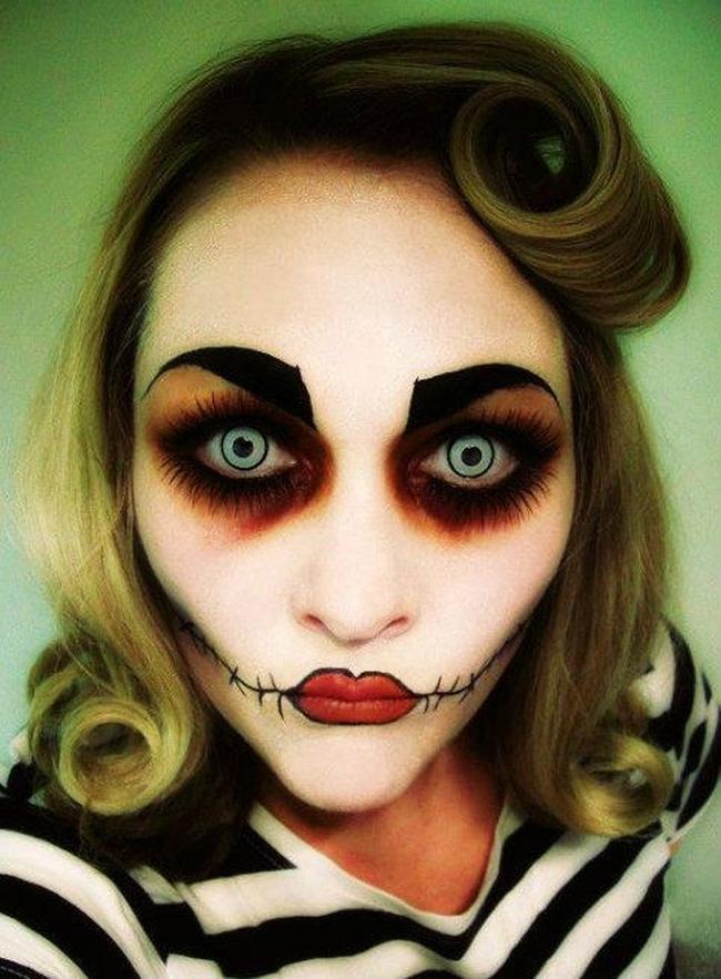 ¿Alguna vez habíais visto a una chica Pin,up zombie? Nosotros tampoco. espectaculares maquillajes haloween 12