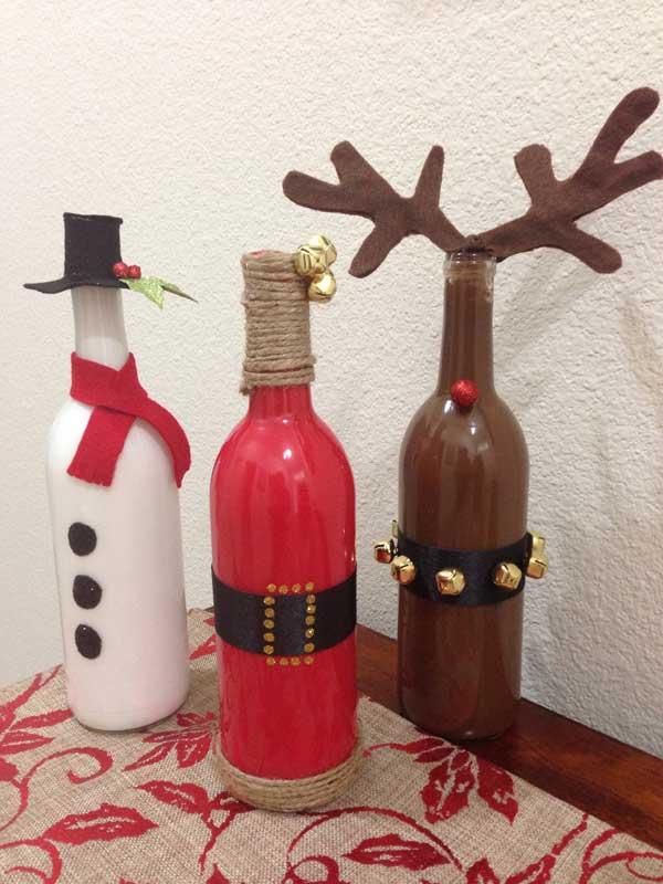 existen multitud de ideas para reciclar las botellas de cristal seguro que en casa tienes y por qu no hacer unos estupendos adornos navideos