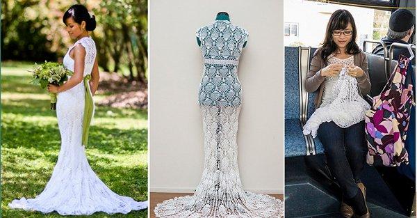 Como se hace un vestido de novia
