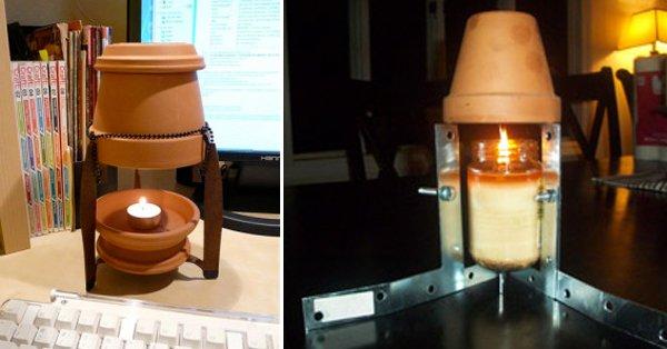 Calienta tu casa este invierno con una maceta, una vela y menos de 20 céntimos al día