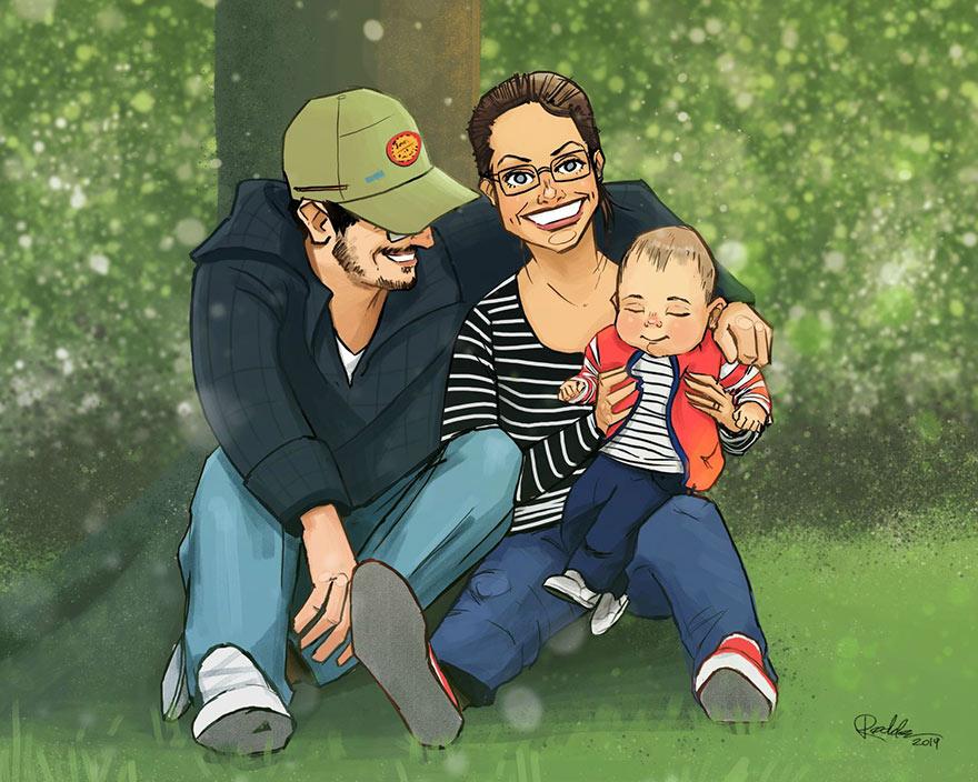 retratos familiares artisticos 13