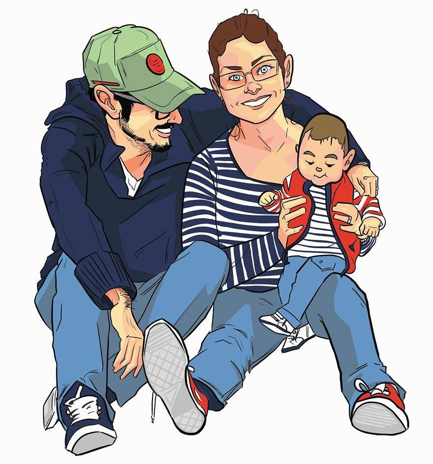 retratos familiares artisticos 14