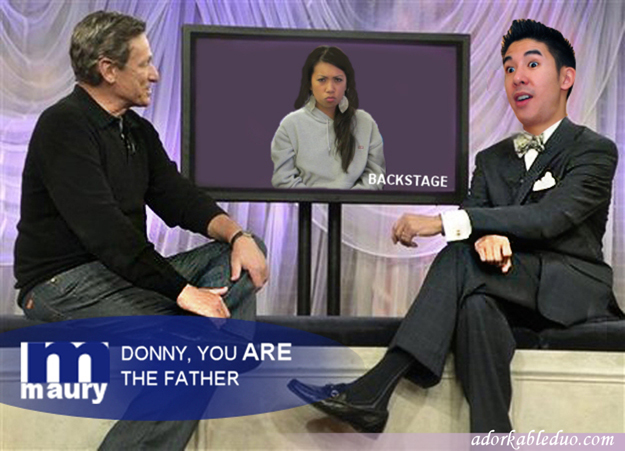 In this photo released by NBC Universal, Maury Povich, left, spe