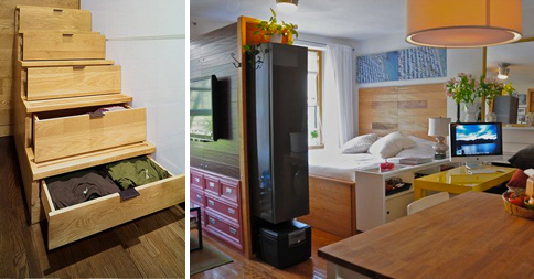 12 alocadas pero pr cticas ideas para convertir for Muebles para apartamentos muy pequenos