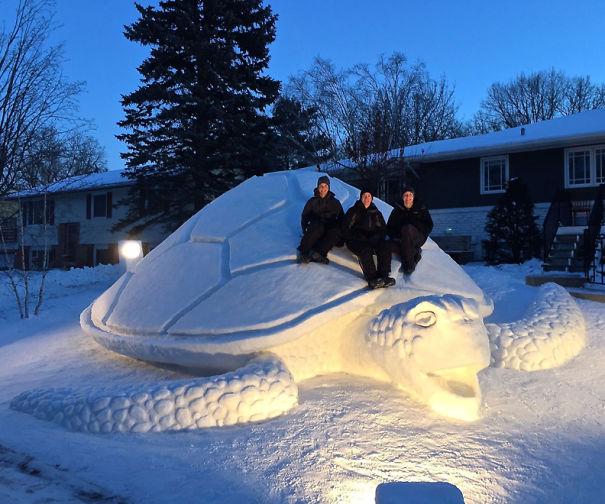esculturas de nieve1