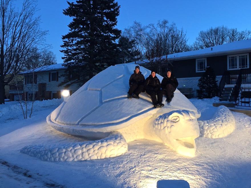 esculturas de nive gigantes 1