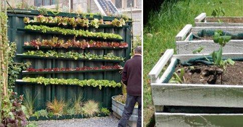 Comienza tu huerto urbano fabricando tus propios for Jardines pequenos horizontales