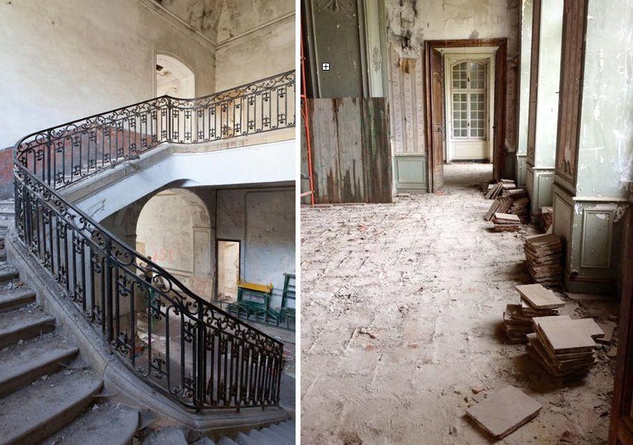 cuando por fin los permisos de restauracin de las autoridades francesas se pusieron manos a la obra el edificio perteneci al marqus de
