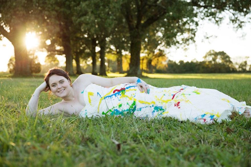vestido boda pintura 1