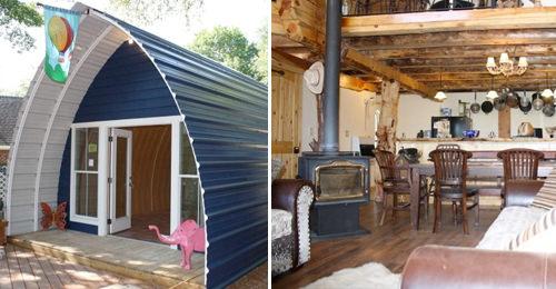 por fuera son cabaas diminutas pero por dentro son espaciosas y lujosas mansiones