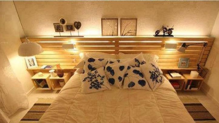10 geniales ideas para hacer un cabecero de cama con palets -entucasa
