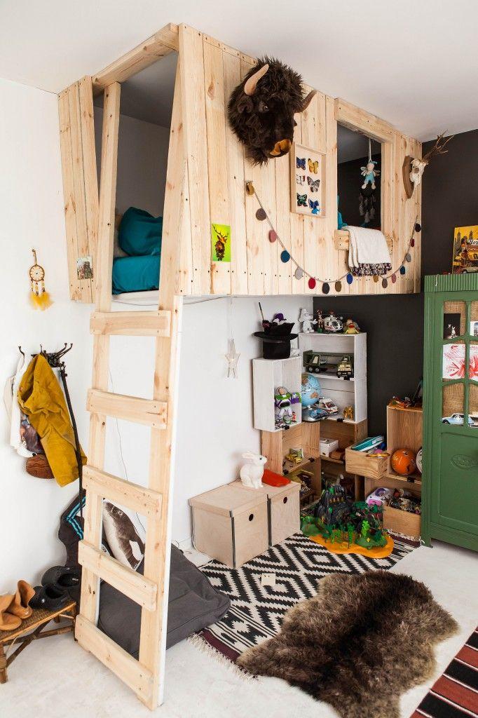 construye una casa colgante como cama apara tus hijos aumentars el espacio de juegos