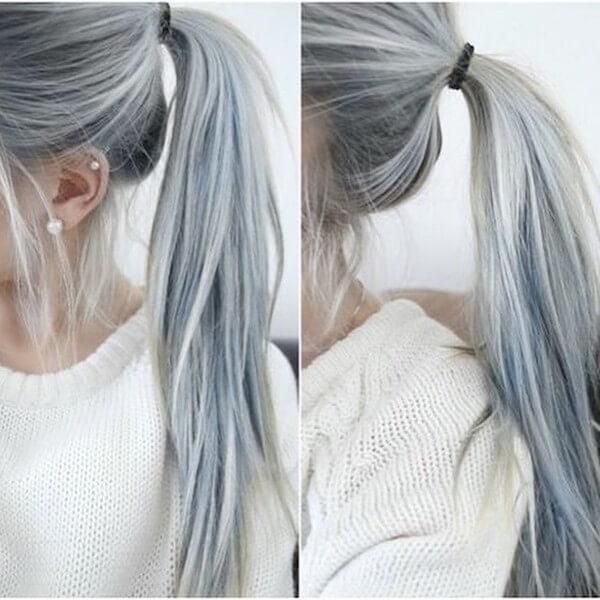Al contrario que algunos rubios y pelirrojos, estas tonalidades grises se ven bastante naturales