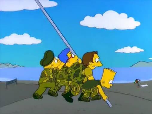 Algunas parodias en los Simpsons