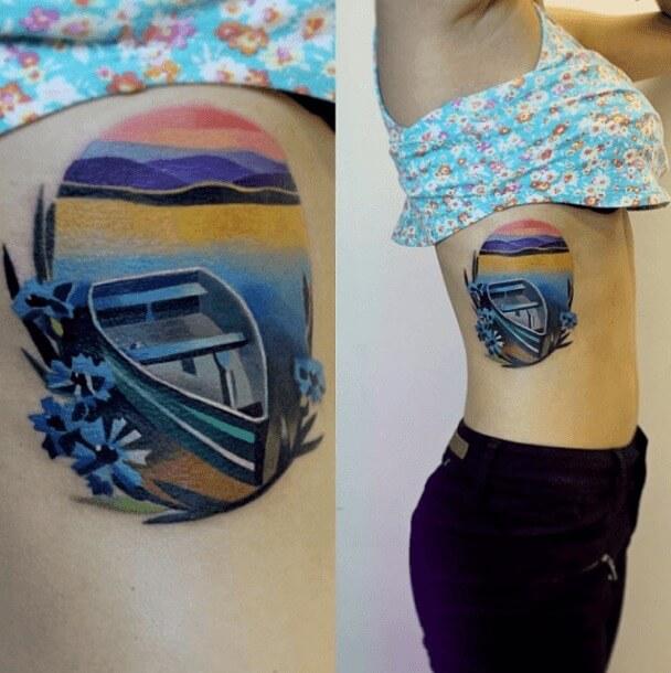 tatuajes de color poligonales10