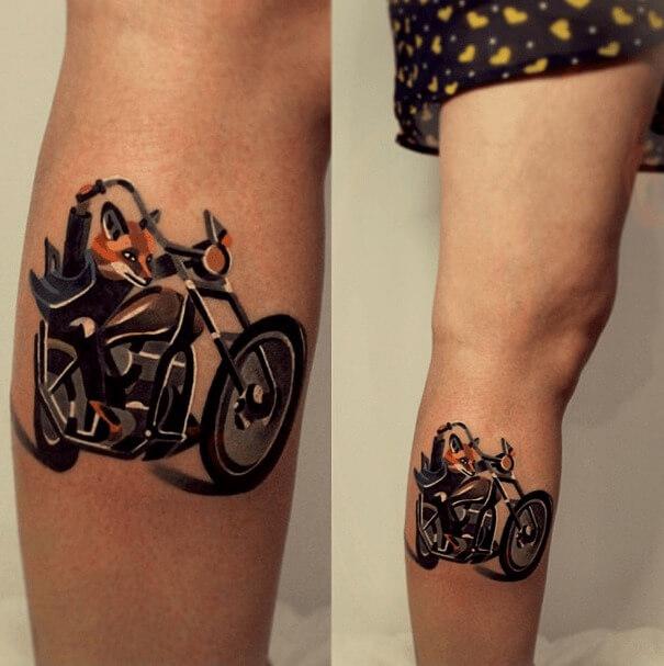 tatuajes de color poligonales12