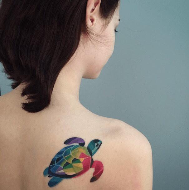 tatuajes de color poligonales14