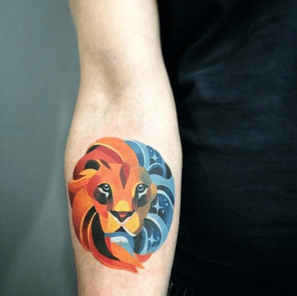 tatuajes de color poligonales16