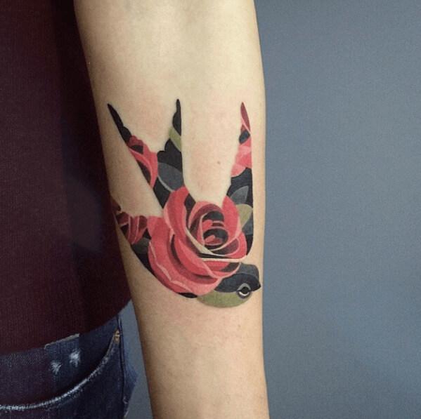 tatuajes de color poligonales18