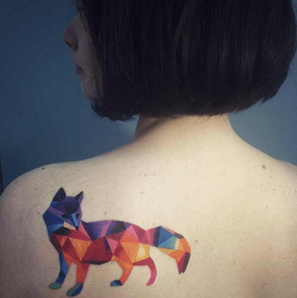 tatuajes de color poligonales19