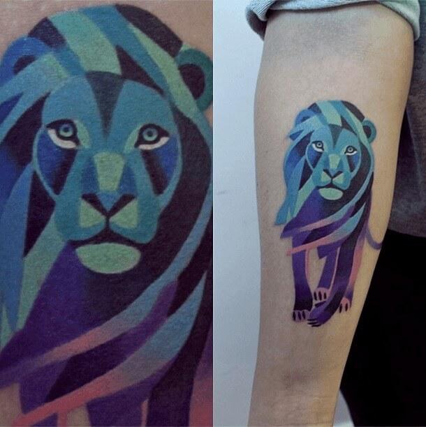 tatuajes de color poligonales2