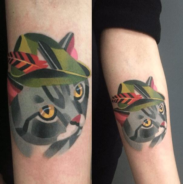 tatuajes de color poligonales20