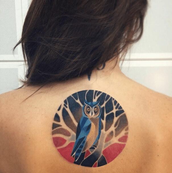 tatuajes de color poligonales23