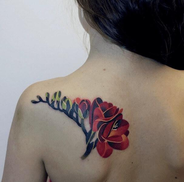 tatuajes de color poligonales26