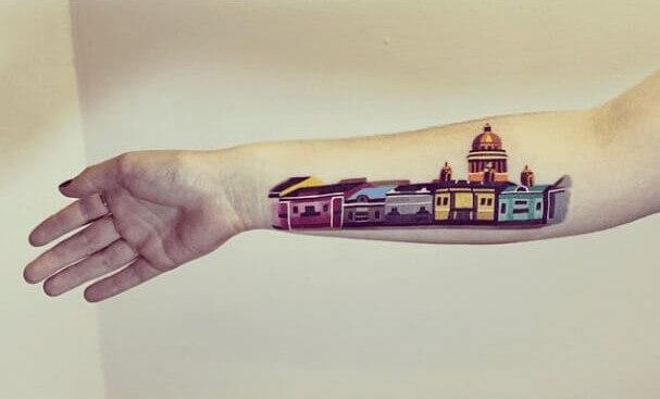 tatuajes de color poligonales27