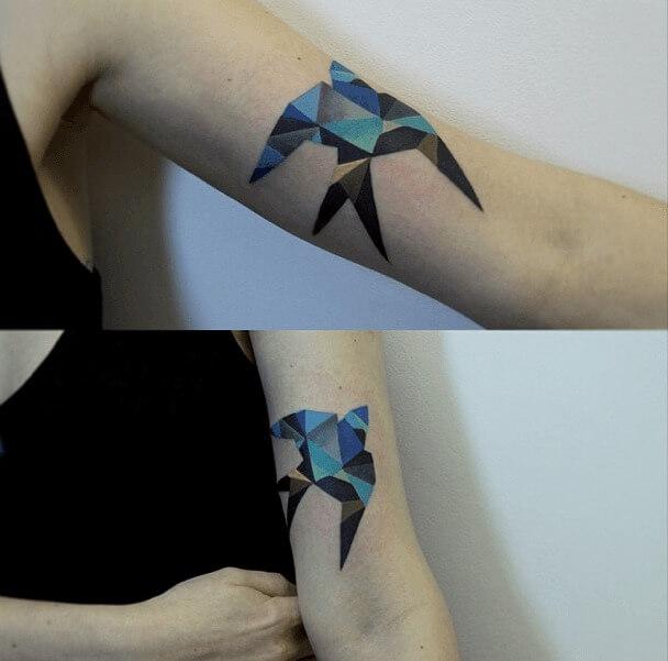 tatuajes de color poligonales28