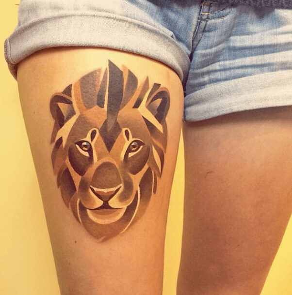 tatuajes de color poligonales4