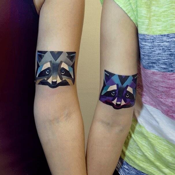 tatuajes de color poligonales6